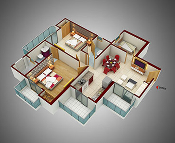 2 BHK Apartments in Noida 150 - 1165 Sq. Ft.