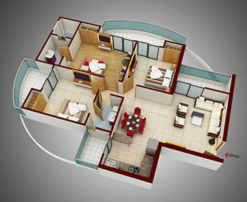 3 BHK Apartments in Noida 150 - 1495 Sq. Ft.