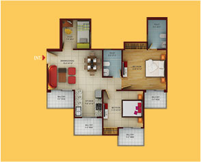 2 BHK Apartments in Greater Noida west - 1080 sq. ft.(Type B)